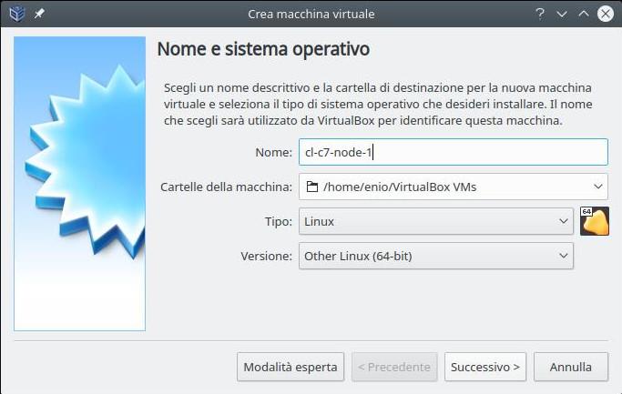 Cluster linux: installazione nodo 1 (SO)