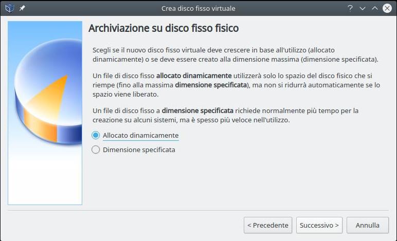 Cluster linux: installazione nodo 1 (allocazione disco)